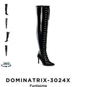 Dominatrix3024X-thigh high Black boots